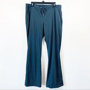 Athleta Midtown Stripe trousers gray size 16